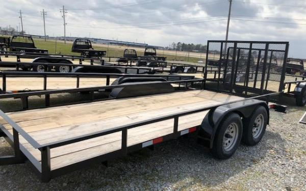 "D&D 76""x16' Utility Trailer With Gate"