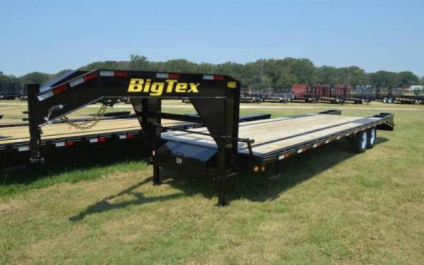 Big Tex 14k 20+5 Gooseneck with Mega Ramps