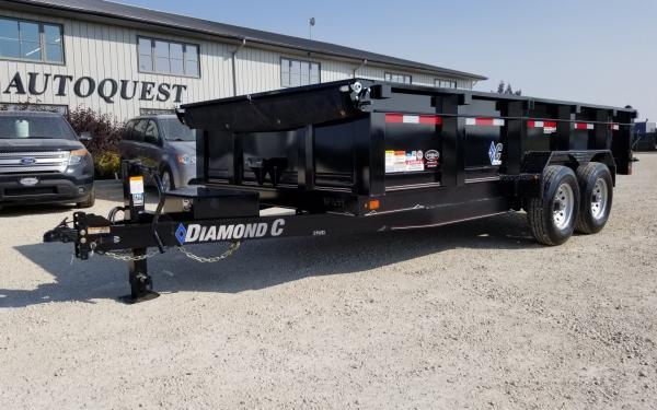 "2019 Diamond C - LPD 16' x 82"" (6'8) Dump Trailer - 14 900 lbs"