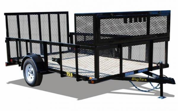 "77"" x 12' Expanded Metal Landscaping Trailer w/ Lockable Box"