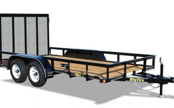 Big Tex 16' Tandem Axle Angle Iron Utility w/ Ramp Gate
