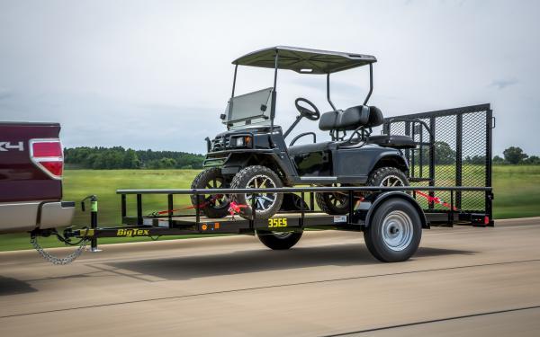 "Big Tex 35ES-77"" x 14 Economy Single Axle Utility Trailer"