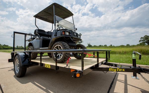 "Big Tex 35ES-77"" x 12 Economy Single Axle Utility Trailer"