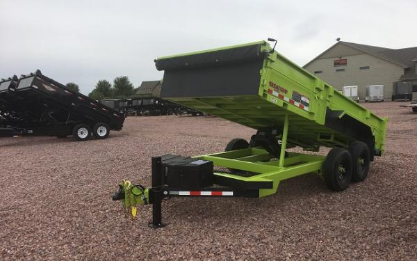 2019 Midsota HV-16 Safety Green Dump Trailer # 0549