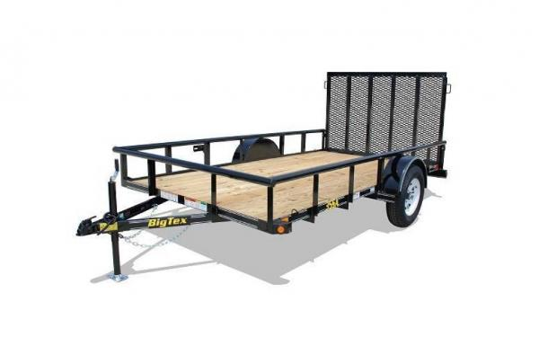 "77"" x 14' Single Axle w/ 4' Rampgate"
