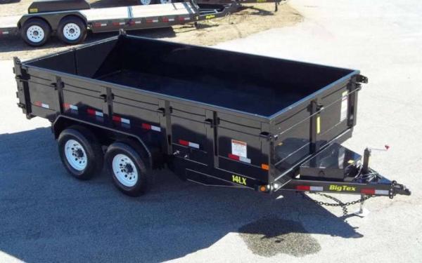 "Big Tex 83""x16' Tandem Axle Low Profile Extra Wide Dump"