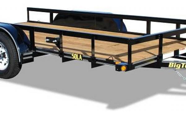 "Big Tex 77""x16' Tandem Axle utility Trailer"