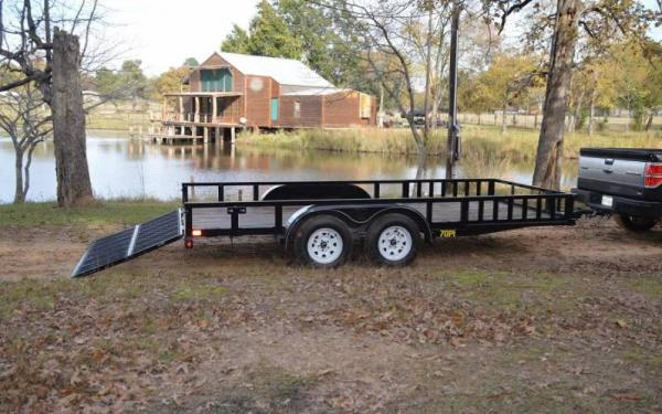 "Big Tex 83""x16' Tandem Axle Pipe Utility Trailer"