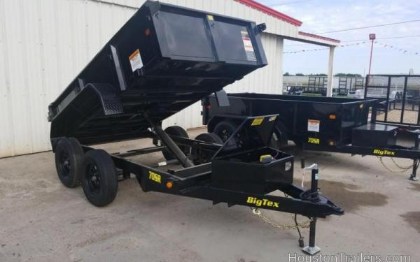 Big Tex 70SR  SINGLE RAM LP DUMP(5x10 TANDEM AXLE, DBL DOORS