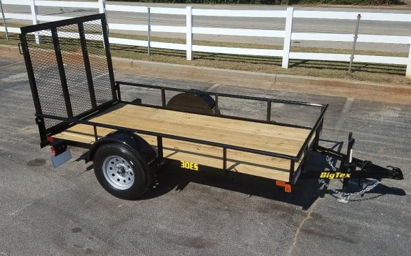 "Big Tex 30ES-60"" x 10 Economy Single Axle Utility Trailer"
