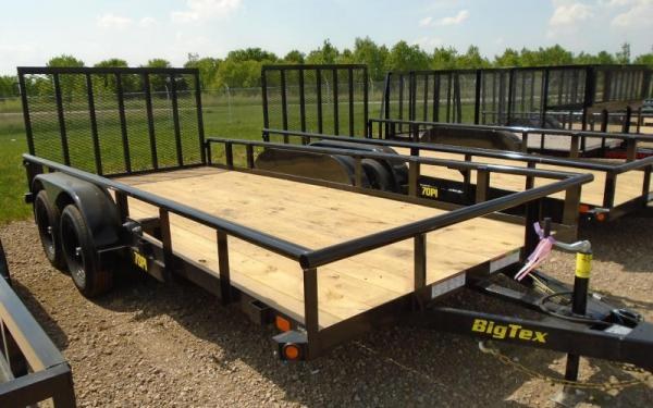 Big Tex 70PI Utility Trailer Heavy Duty Pipe Top Rail