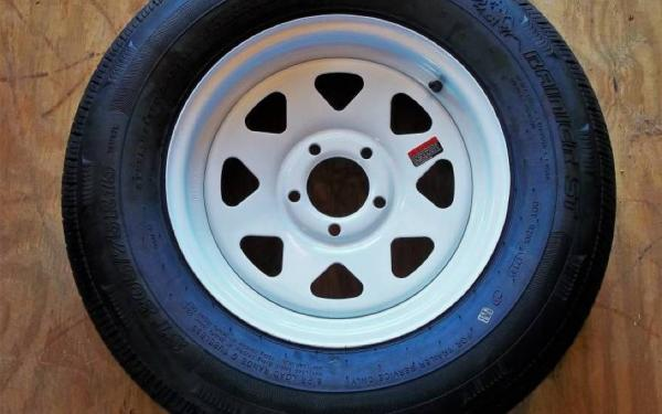 WHEEL-TIRE COMBO-15X5 ON 545 WHITE SPOKE