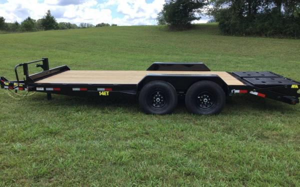 BIG TEX 14ET TAND EQUIP W/DT 83x18 KR DVT Knee Ramps, Black