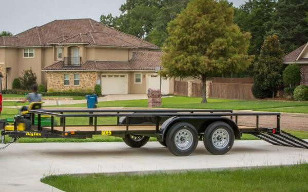 "Big Tex 60ES-77"" x 12 Single Axle Utility Trailer"