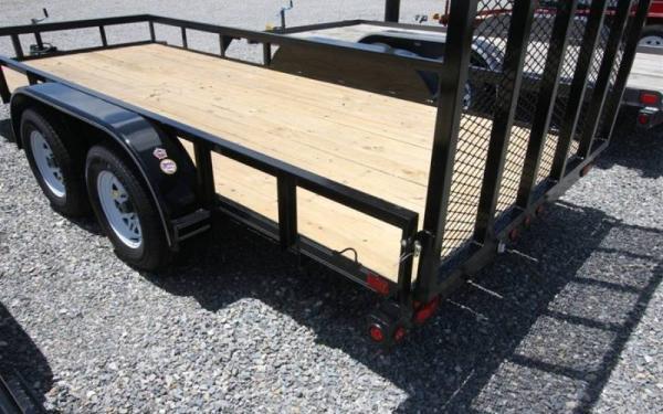 "45LA-60"" x 12 Tandem Axle Angle Iron Utility Trailer"