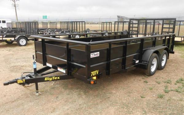 "Big Tex 70TV-83"" x 16 Tandem Axle Vanguard Trailer"