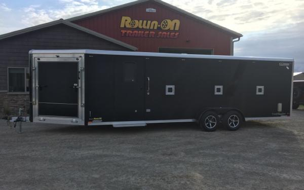 2020 Legend 29' Trackmaster 4-5-place enclosed inline snowmobile trailer Black Out Edition
