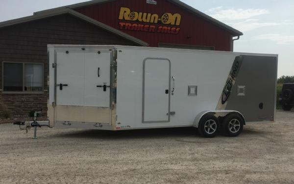 2019 Legend 23' 3-Place Enclosed Inline Snowmobile Trailer