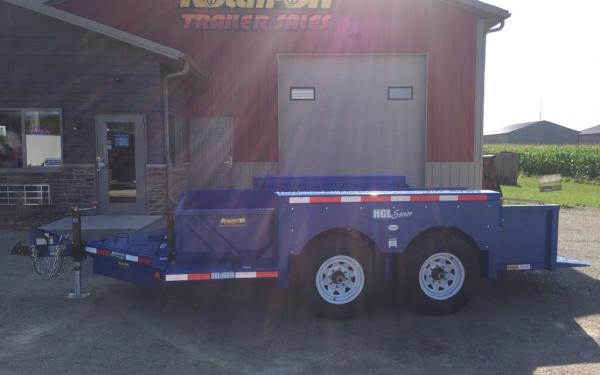 2019 Hydraulic Ground Load Trailer 6' x 14' 14K GVWR