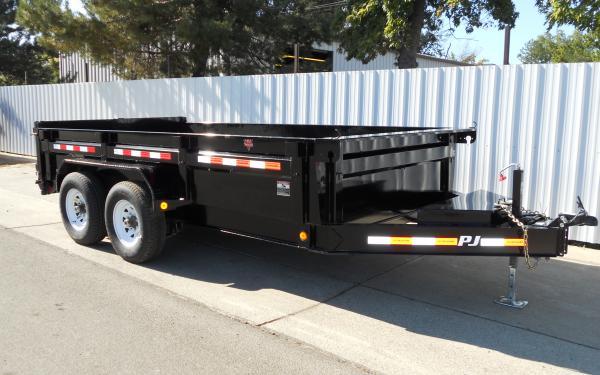 PJ Trailers 7'x14' 14K Low-Pro Dump 5491 S8