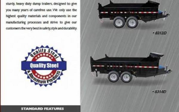 Quality Steel And Aluminum Products 83 Wide Dump Trailer