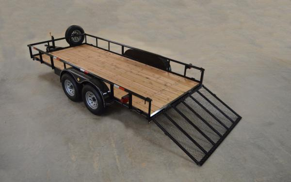 Diamond T 8316SU Pipe Top Tandem Axle Utility Trailer