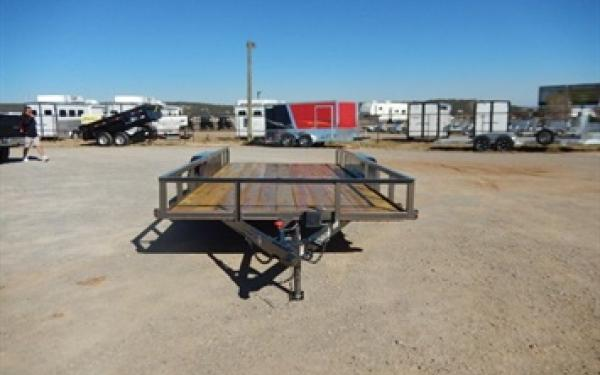 83 X 16 Diamond T Pipe Top Utility Trailer W/5' slide in ramps