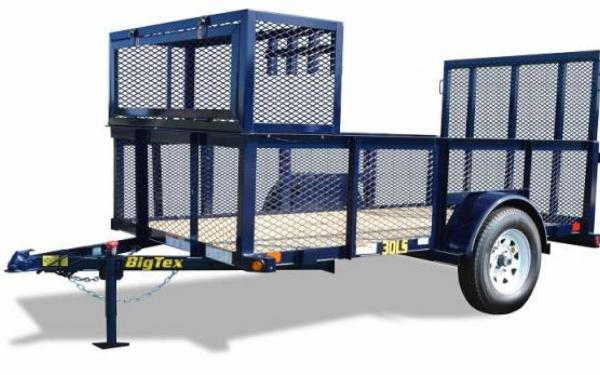10' Big Tex Single Axle Landscape Trailer