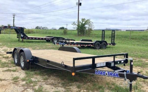 "Load Trail 2019 - 83"" x 18' Tandem Axle Carhauler w/3"" x 5"" Angle Frame"