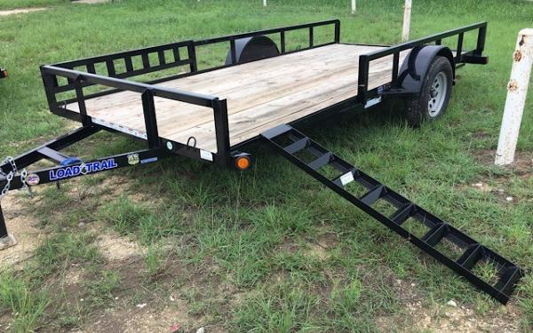 "2019 - 77"" x 14' Single Axle W/side rail ramps"