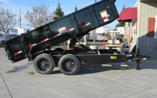 "Big Tex 16LX  TAND DUMP 83""x14 7SIR Black"