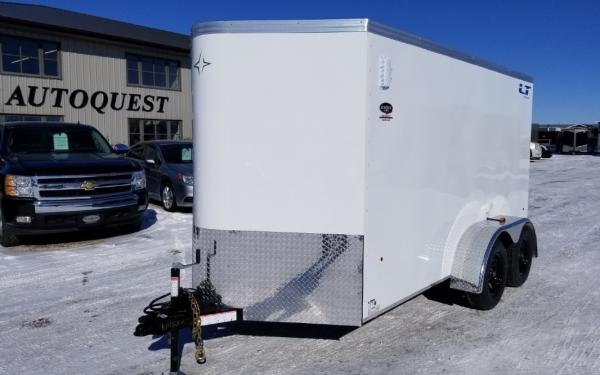 "2019 Southland Royal Cargo LTV 6' x 12' (+2' V-Nose) x 72"" High Enclosed Cargo Trailer with Ramp Door - 7 000 lbs"