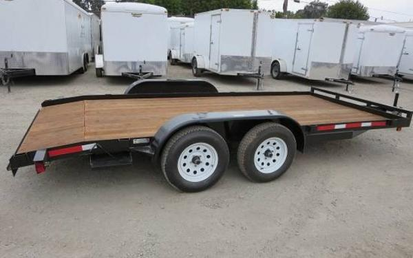 16' R&J Car Hauler, Straight Deck
