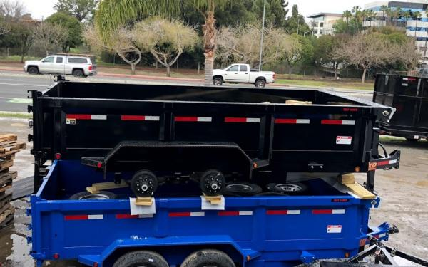 DUMP TRAILER 7X14 14K, SEVERAL COLORS TO CHOOSE FROM