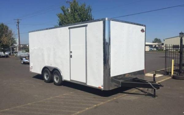 2019 Cargo Mate EHWA8518TA2 8.5 x 18 Tandem Axle Enclosed Trailer