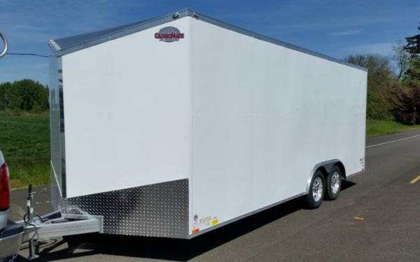 2019 CargoMate EHWA8520TA2  8.5 x 20 Aluminum Enclosed Tandem Axle Trailer