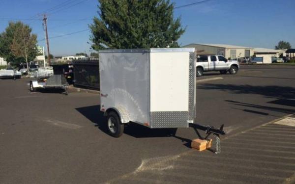 2017 CargoMate EHW46SA  4 x 6 Single Axle Enclosed Trailer