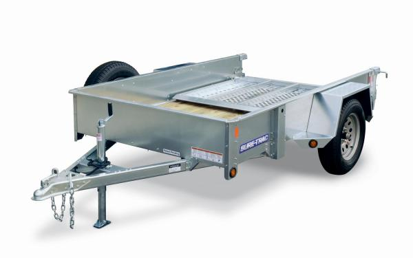 Sure-Trac 5x10 Galvanized High Sided Utility Trailer