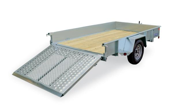Sure-Trac 6x12 Galvanized High Sided Utility Trailer
