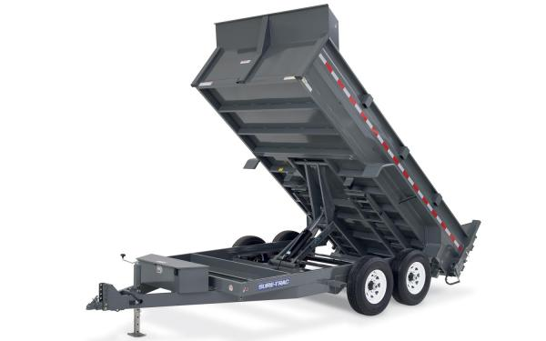 Sure-Trac 82x14 Heavy Duty Low Profile Dump (Scissor Hoist)