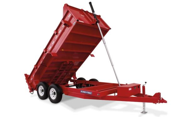 Sure-Trac 82x14 Heavy Duty Low Profile Dump (Telescopic Hoist)