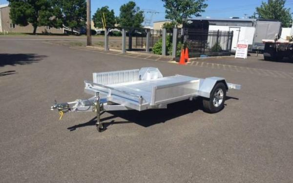 2017 Olympus 5 x 10 Aluminum Single Axle Flatbed Trailer