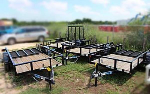 Top Hat 5x10 Trailer w/Ramp Gates