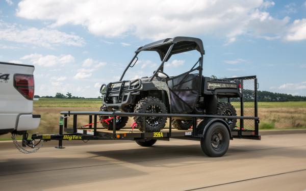 "Big Tex 35SA 77""x14' Single Axle Utility Trailer"