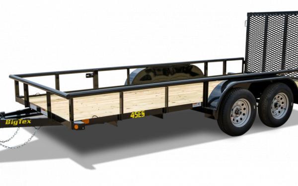 "Big Tex  45ES-12   77""x12' Tandem Axle Utility Trailer"