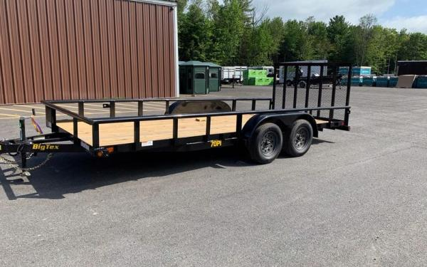 "70PI-83"" x 16 Tandem Axle Pipe Top Utility Trailer"