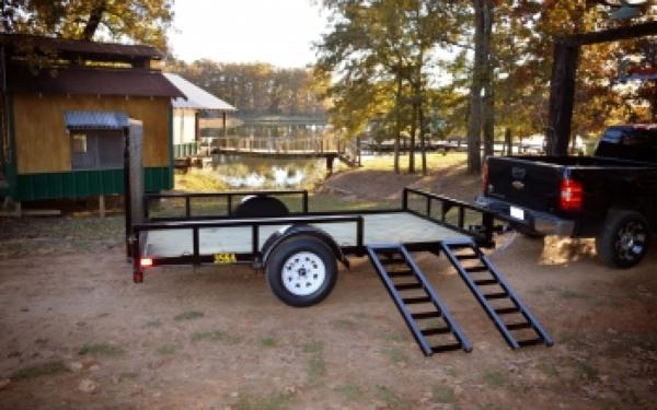 "Big Tex 35SA-RSX 83""x12' Single Axle Utility Trailer"