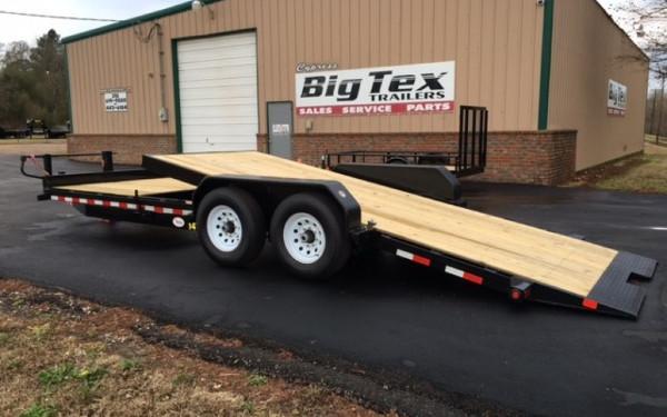 7X22 Big Tex Tilt Equipment Trailer, Tandem 7K Axles