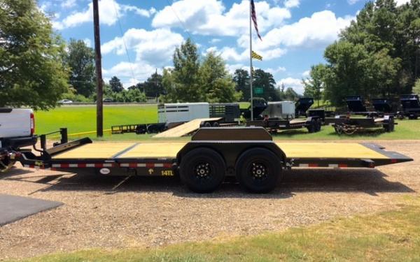 7X22 Big Tex Tilt 14TL  Equipment Trailer, Tandem 7K Axles