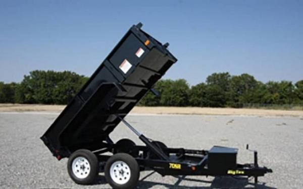 Big Tex Single Ramp Dump Trailer